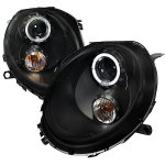 Mini Cooper 2007-2011 Black Halo Projector Headlights