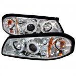 2003 Chevy Impala Clear Dual Halo Projector Headlights with LED