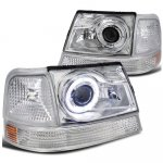 Ford Ranger 1998-2000 Clear Halo Projector Headlights and Bumper Lights Set