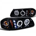 2003 Chevy Impala Smoked Dual Halo Projector Headlights with LED