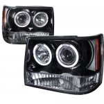 Jeep Grand Cherokee 1993-1998 Smoked Halo Projector Headlights