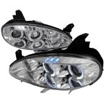 2004 Mazda Miata Clear Dual Halo Projector Headlights with LED