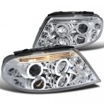 2004 VW Passat Clear Halo Projector Headlights with LED
