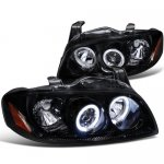 Nissan Sentra 2004-2006 Smoked Halo Projector Headlights