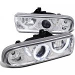 2002 Chevy S10 Pickup Chrome Projector Headlights Halo LED