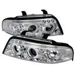 2001 Audi A4 Clear Halo Projector Headlights with LED