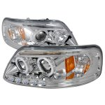 1999 Ford F150 Clear Halo Projector Headlights with LED Eyebrow