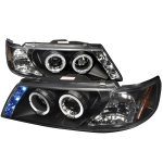 Nissan Sentra 1995-1999 Black Halo Projector Headlights with LED