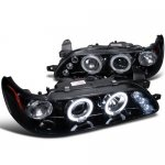 1993 Toyota Corolla Smoked Halo Projector Headlights with LED