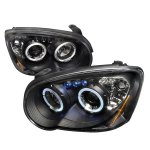 Subaru Impreza 2004-2005 Black Halo Projector Headlights with LED