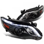 2011 Toyota Corolla Projector Headlights LED DRL Black