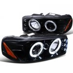 2007 GMC Sierra 1500HD Smoked Projector Headlights Halo LED