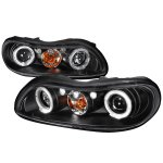 1999 Chevy Malibu Black Dual Halo Projector Headlights with LED
