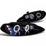 2004 Dodge Intrepid Smoked Halo Projector Headlights LED