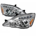 2007 Honda Accord Clear Halo Projector Headlights with LED