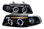 Audi A4 1996-1999 Smoked Projector Headlights with LED