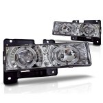 Chevy Blazer Full Size 1992-1994 Clear Halo Projector Headlights