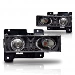 Chevy Silverado 1994-1998 Black Halo Projector Headlights
