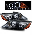 Kia Sorento 2011-2012 Projector Headlights Black CCFL Halo LED DRL