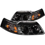 2001 Ford Mustang Projector Headlights Black