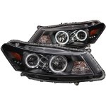 2011 Honda Accord Coupe Projector Headlights Black CCFL Halo LED