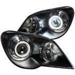 Chrysler Pacifica 2007-2008 HID Projector Headlights Black CCFL Halo