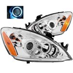 Mitsubishi Lancer 2004-2006 Projector Headlights Chrome CCFL Halo