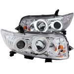 Scion xB 2008-2010 Projector Headlights Chrome Halo LED