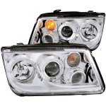 2004 VW Jetta Projector Headlights Chrome Halo with Fog Lights