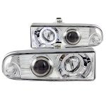 2002 Chevy S10 Pickup Projector Headlights Chrome Halo