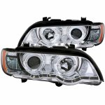 2001 BMW X5 Projector Headlights Chrome Halo LED DRL