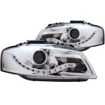 2007 Audi A3 Clear Projector Headlights LED DRL