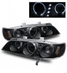 1996 Honda Accord Projector Headlights Black Halo LED