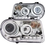 Chrysler 300C 2005-2010 Clear Projector Headlights with CCFL Halo and LED