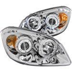 Pontiac Pursuit 2005-2006 Projector Headlights Chrome Halo LED