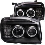 Nissan Frontier 2001-2004 Projector Headlights Black CCFL Halo LED