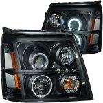 2006 Cadillac Escalade HID Projector Headlights Black CCFL Halo LED