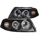 VW Passat 2002-2005 Projector Headlights Black Halo