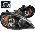 Mercedes Benz M Class 2002-2005 Projector Headlights Black CCFL Halo