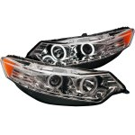 Acura TSX 2009-2012 Clear HID Projector Headlights CCFL Halo LED DRL