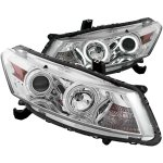 2008 Honda Accord Coupe Projector Headlights Chrome CCFL Halo LED