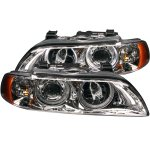 BMW 5 Series 1997-2003 Projector Headlights Chrome Halo