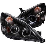2005 Honda Accord Projector Headlights Black Halo LED