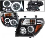 Nissan Pathfinder 2005-2007 Black Projector Headlights CCFL Halo LED