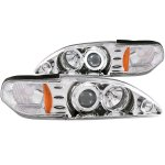 Ford Mustang 1994-1998 Projector Headlights Chrome Halo