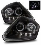 Mitsubishi Eclipse 2000-2005 Projector Headlights Black Halo LED DRL