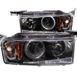 Scion xB 2004-2006 Projector Headlights Black Halo LED