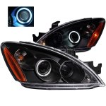 Mitsubishi Lancer 2004-2006 Projector Headlights Black CCFL Halo