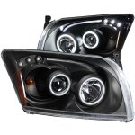 Dodge Caliber 2007-2009 Projector Headlights Black CCFL Halo LED Bar