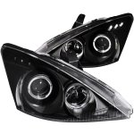 Ford Focus 2000-2004 Projector Headlights Black Halo LED